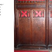 Carved Oak Rood Screen At St Michael's Church, Abertillery Panels 6, 7 & 8