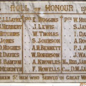 Congregational Chapel, Queen Street, Brynmawr - Roll of Honour 1914-1919