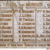 QUEEN ST CONGREGATIONAL CHURCH ROLL OF HONOUR 1914-1919