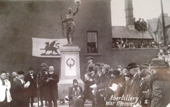 Dedication of Abertillery Civic War Memorial