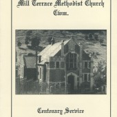Cwm Wesleyan Methodist Church Centenary booklet cover, 1995