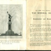 Dedication of Ebbw Vale Civic War Memorial