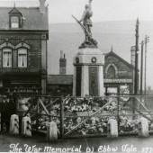 Original site of cenotaph at the Crossing, Ebbw Vale