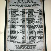 Parish of Saint David's, Beaufort, Ebbw Vale - First World War Memorial Plaque