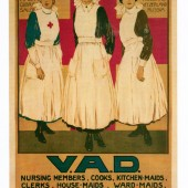 WW1 recruitment poster for the Voluntary Aid Detachment