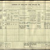 William George Barnes, 1911 census