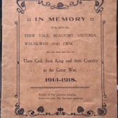 Book of Remembrance: Ebbw Vale, Beaufort, Victoria, Waunlwyd & Cwm