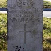 David Edwards' grave, Cefn Golau, Tredegar