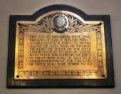 1st Welsh Field Ambulance R.A.M.C. Memorial Plaque, Christ Church, Ebbw Vale