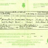 John Henry Evans Marriage Certificate | Alan James