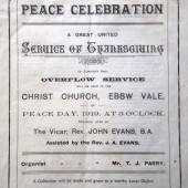 Overflow 'Service of Thanksgiving', Christ Church, Peace Day, Saturday 19 July 1919