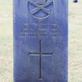 David William Williams' grave, Cefn Golau Cemetery, Tredegar