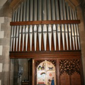 Organ pipework at Christ Church, Ebbw Vale