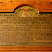 WW1 plaque at Christ Church, Ebbw Vale