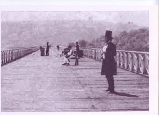 Crumlin Viaduct before railway tracks laid