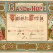 Band of Hope Membership certificate