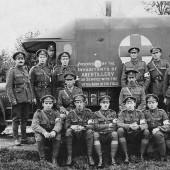 Abertillery people provide World War I field ambulance.