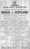 Quoits: Wales v Scotland 1948
