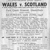 Quoits: Wales v Scotland 1948