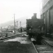 Train Outside Loco Sheds Tredegar