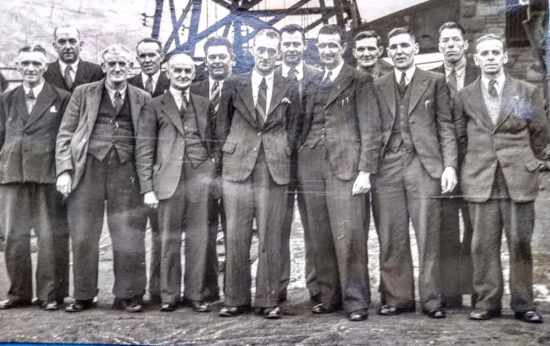 Colliery Manager and Miners Representatives circa 1947