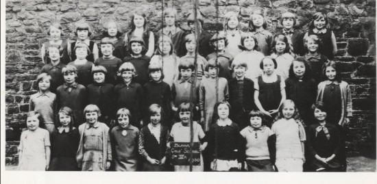 Blaina Girls School, Std 3 a, 1930