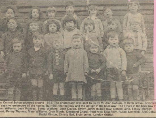 Blaina Central Infants School, 1934