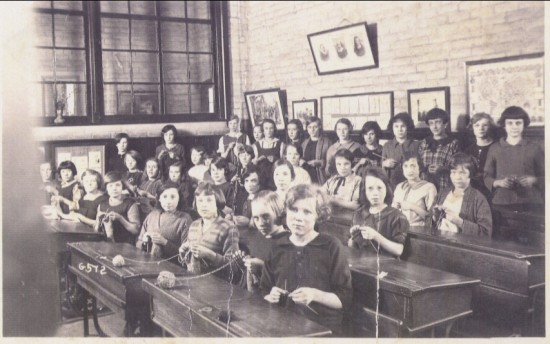 Blaina Central Girls' School, 1930s