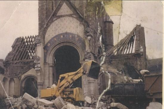 Demolition of St. Peter's church, 1973