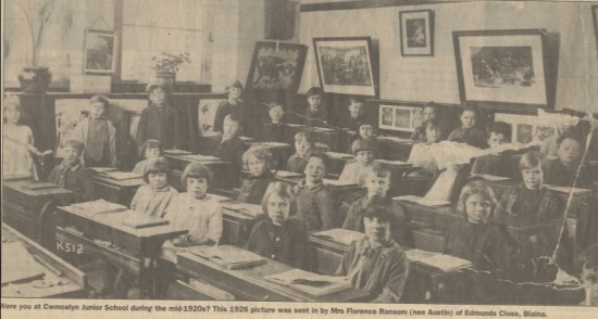 Cwmcelyn Junior School, 1926