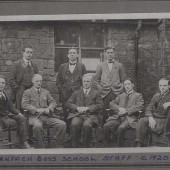 Garnfach Boys' School Staff, c. 1920