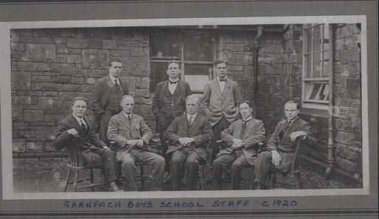 Garnfach Boys' School Staff, c. 1920
