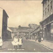 Blaina High Street before World War I