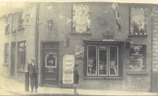Jack Jones' Shop in High Street, decorated for the coronation of George VI