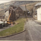 Demolition of the Wesleyan Chapel in the 1970s.
