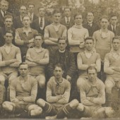 A Blaina Football team with Rev. Jacob Towns