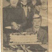 Newspaper cutting re. cake given by Duchess of York to children of Blaina