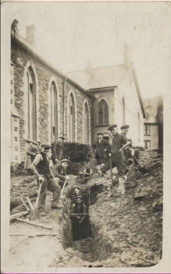 Workmen at Congregational Chapel, Blaina