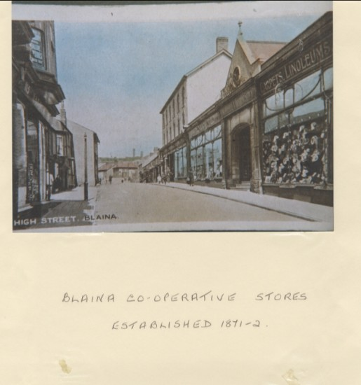 Blaina Cooperative Stores est. c1871, Blaina High Street