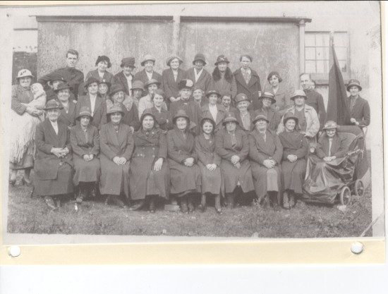 Slavation Army Home League Nantyglo. Late 1930's. Includes Gran Gwillym 1879 to 1944