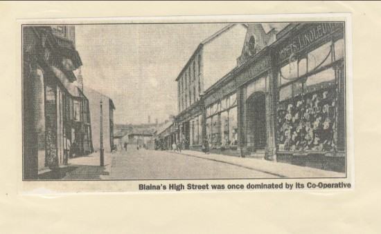 Blaina High Street once dominated by the Cooperative
