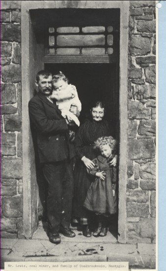 Mr. Lewis, Coal Miner, and his family of Coalbrookvale, Nantyglo