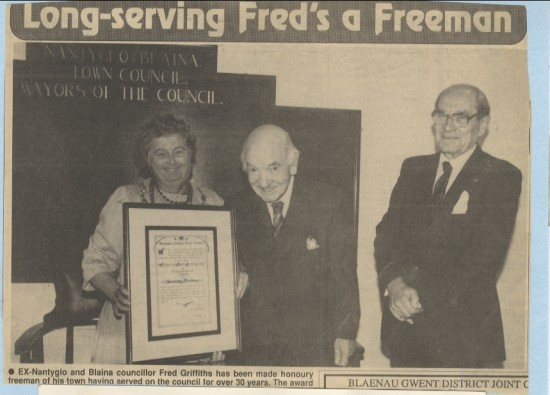 Long serving Fred's a freeman