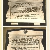 Garnfach Methodist Church ( built 1883, closed 21st October 1991), plaques displayed in church