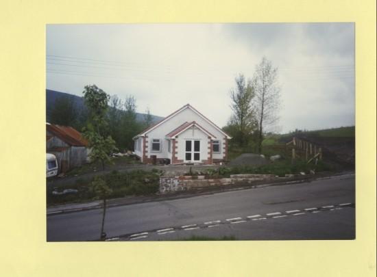 The new Spiritualist Hut, Cwmcelyn Road, Blaina.  Original hut was a zinc shed.