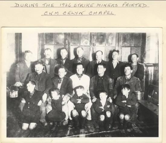 During the 1926 strike, miners painted Cwmcelyn Chapel