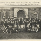 Blaina Town Band taken outside of old Blaina Police Station