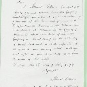 Cwmcelyn and Blaina Ironworks Company, letter