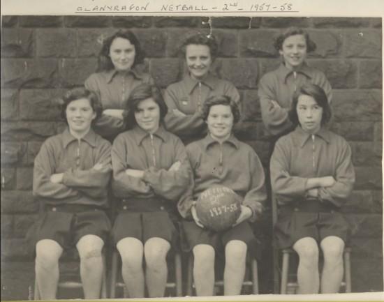 Glanyrafon Netball 1957 to 1958