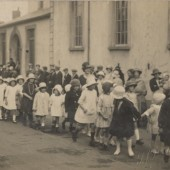 School Walks outside Rehoboth Chapel